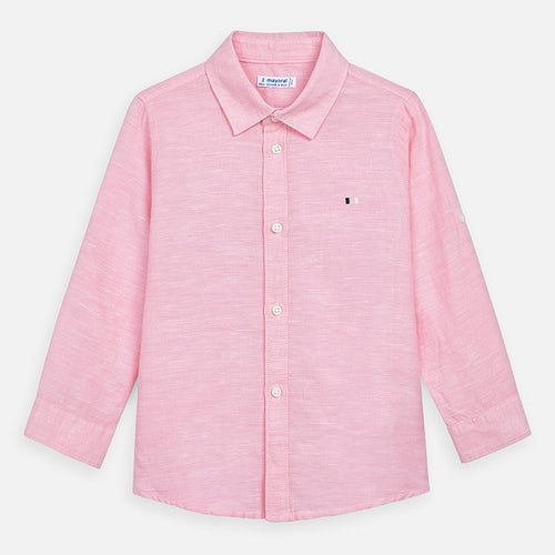Mayoral Boy Linen Shirt - Pink Rose