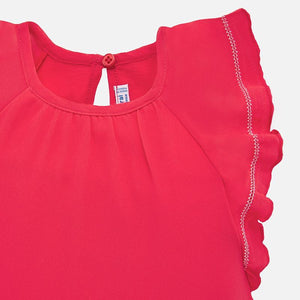 Mayoral Baby Girl Flutter Sleeve Tee - Watermelon
