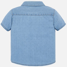 Mayoral Baby Boy Short Sleeve Denim Shirt - Bloom Kids Collection - Mayoral