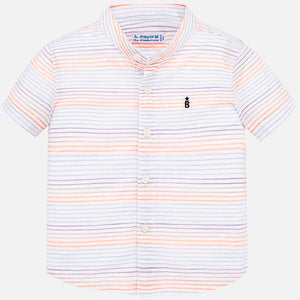 Mayoral Baby Boy Short Sleeve Shirt - Neon Mango - Bloom Kids Collection - Mayoral