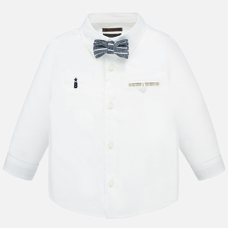 Mayoral Long Sleeve Dress Shirt - White - Bloom Kids Collection - Mayoral