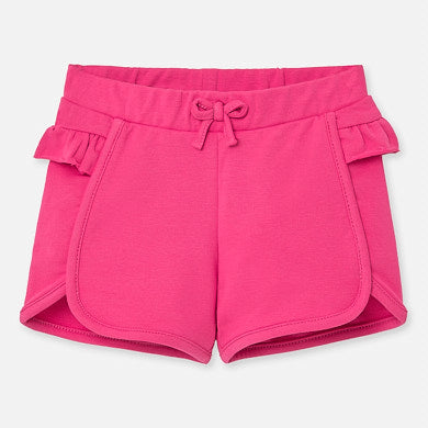 Mayoral Baby Girl Ruffled Shorts - Fuchsia