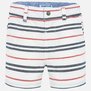 Mayoral Baby Boy Striped Bermuda Shorts - Hibiscus - Bloom Kids Collection - Mayoral