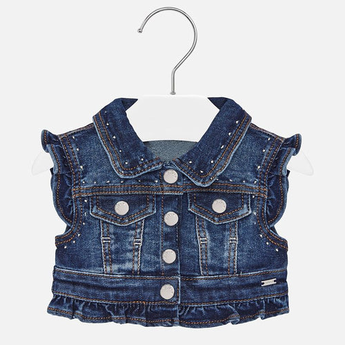 Mayoral Baby Girl Sleeveless Denim Vest - Bloom Kids Collection - Mayoral