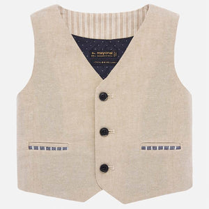 Mayoral Baby Boy Linen Vest - Bloom Kids Collection - Mayoral