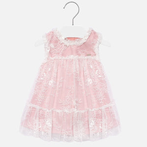Mayoral Baby Girl Lace Dress - Pink