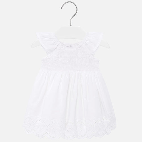 Mayoral Baby Girl Eyelet Dress - White - Bloom Kids Collection - Mayoral