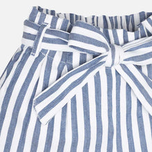 Mayoral Girl Blue Stripe Bow Tie Shorts - Bloom Kids Collection - Mayoral
