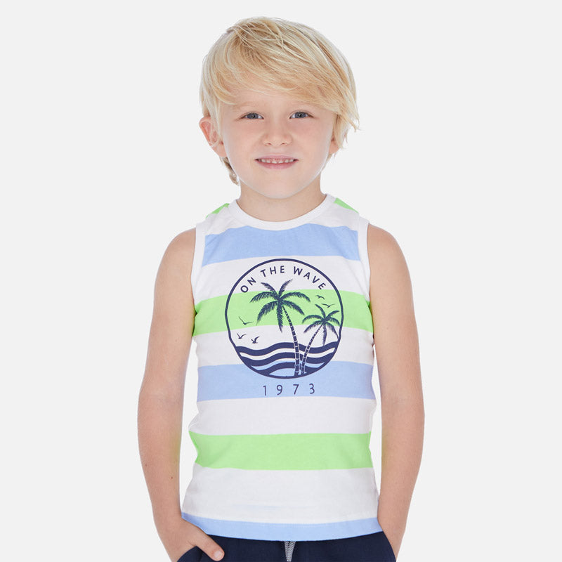 Mayoral Boy Short Tee and Tank Set - Neon Acid - Bloom Kids Collection - Mayoral
