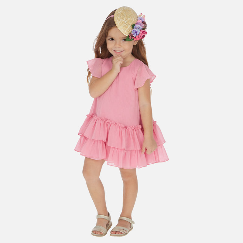 Mayoral Ruffled Dress - Hollyhock Pink - Bloom Kids Collection - Mayoral