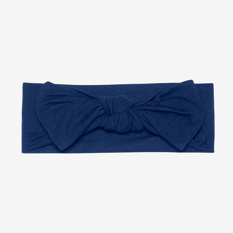 Posh Peanut Infant Headwrap - Sailor Blue - Bloom Kids Collection - Posh Peanut