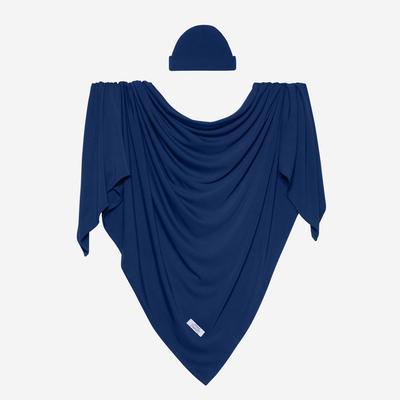 Posh Peanut Swaddle Beanie Set - Sailor Blue