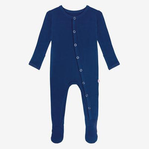 Posh Peanut Footie Snap One Piece - Sailor Blue