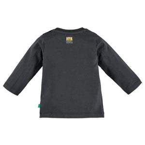 Babyface Baby Boys Long Sleeve Top - Dark Grey