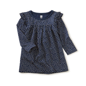 Tea Collection Ruffle Shoulder Dress - Tiny Dots