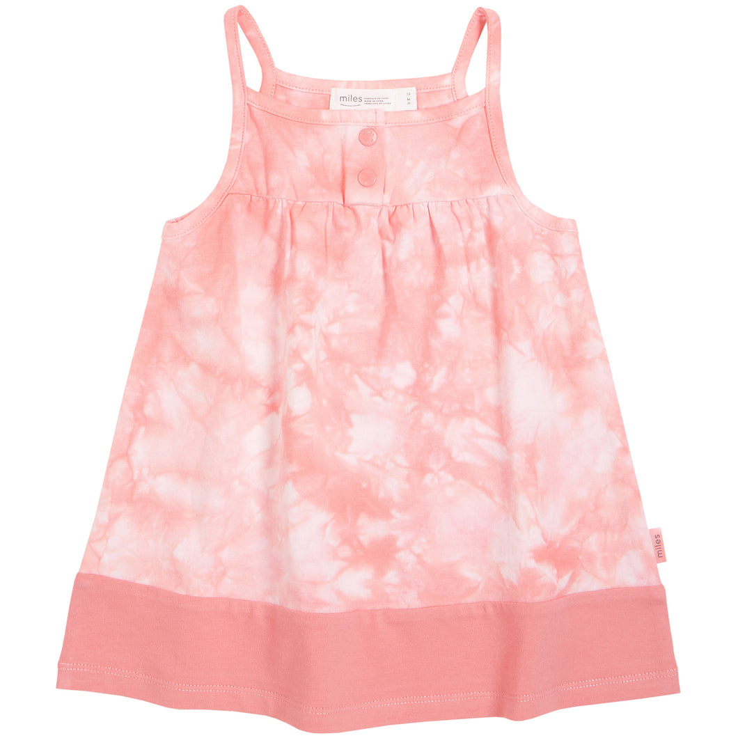 Miles Baby Melon Tie Dye Cami Dress