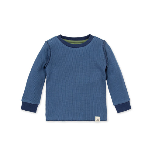 Burt's Bees Solid Thermal Organic Baby Long-Sleeve Tee - Blue Star
