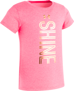 Under Armour Shine Tee - Penta Pink - Bloom Kids Collection - Under Armour