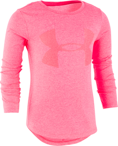 Under Armour Big Girl Finale Long Sleeve - Penta Pink