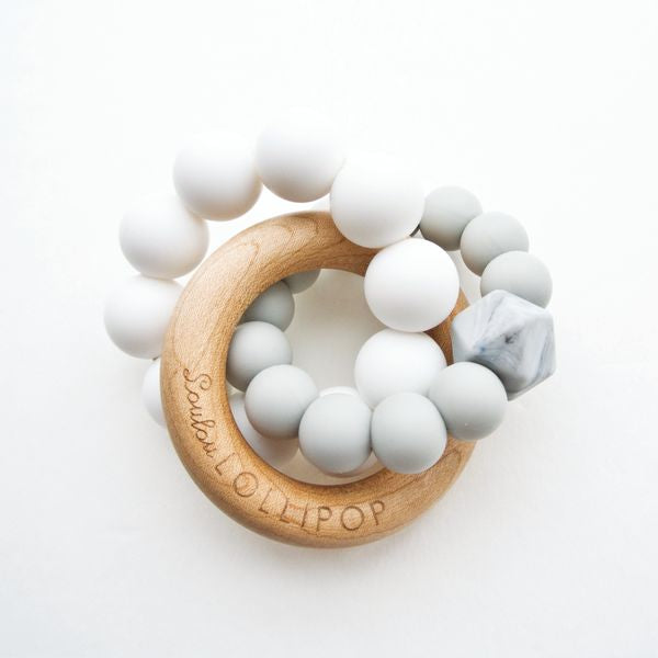 Loulou Lollipop Trinity Teether - Grey - Bloom Kids Collection - Loulou Lollipop