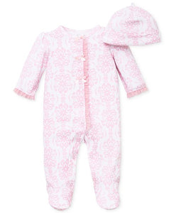Little Me Demask Scroll Footie and Hat - Bloom Kids Collection - Little Me