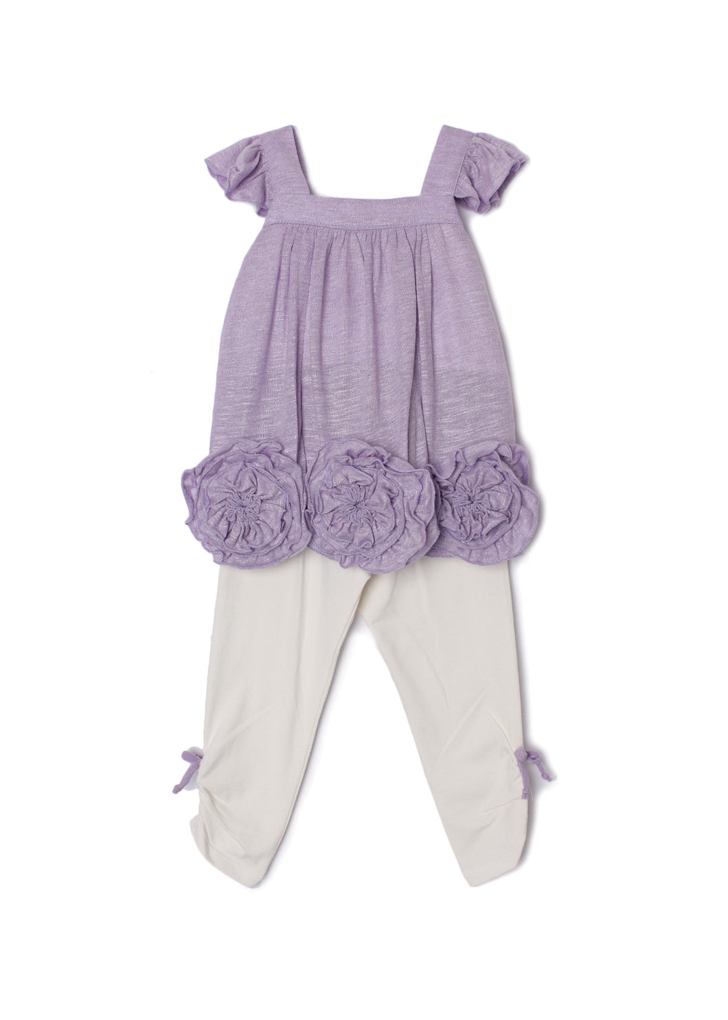 Isobella and Chloe Flora Dance Two Piece Set - Purple - Bloom Kids Collection - Isobella and Chloe