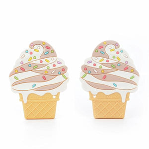 Loulou Lollipop Teether - Chocolate Ice Cream - Bloom Kids Collection - Loulou Lollipop