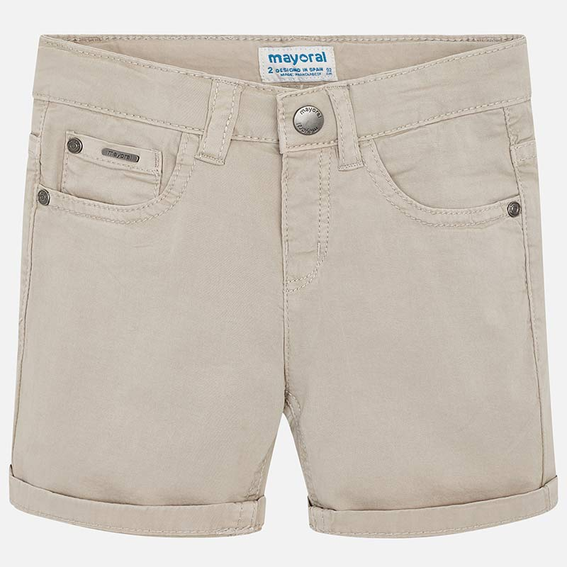 Mayoral Twill 5 Pocket Short - Stone - Bloom Kids Collection - Mayoral
