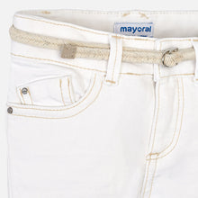 Mayoral Girls Rolled Hem Shorts - Off White - Bloom Kids Collection - Mayoral