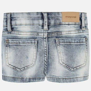 Mayoral Basic Denim Shorts - Bleached - Bloom Kids Collection - Mayoral