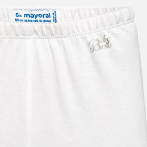 Mayoral Baby Girl Basic Leggings - White - Bloom Kids Collection - Mayoral
