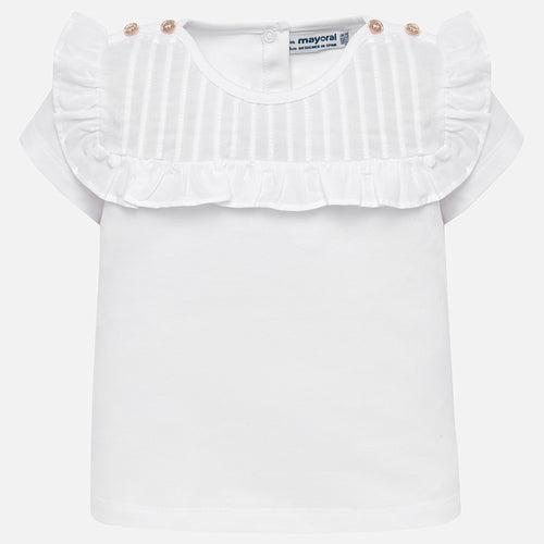 Mayoral Baby Girl Pleated Ruffle Top