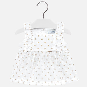 Mayoral Champagne Polka Dot Top
