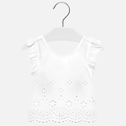 Mayoral Eyelet Cross Back Top