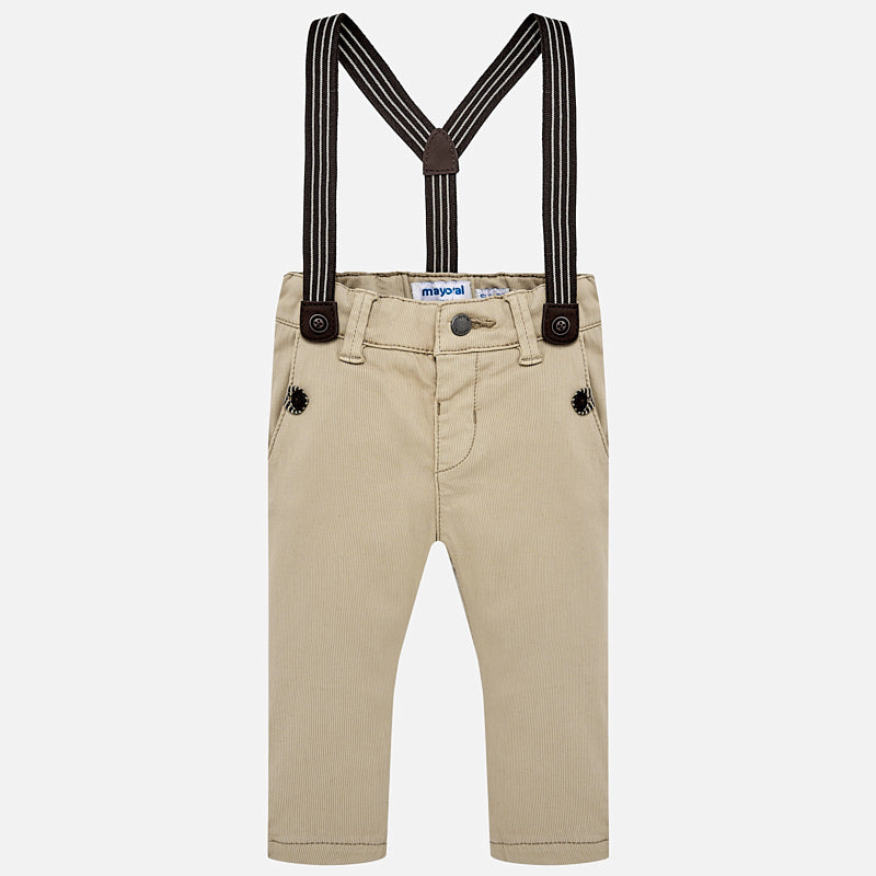 Mayoral Baby Boy Chino Pants with Suspenders - Bloom Kids Collection - Mayoral