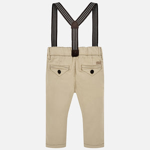 Mayoral Baby Boy Chino Pants with Suspenders