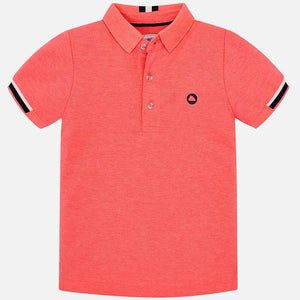 Mayoral Boys Polo - Fluorescent Salmon