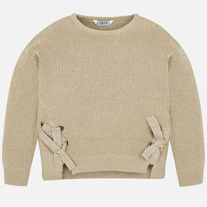 Mayoral Metallic Mink Ribbon Sweater