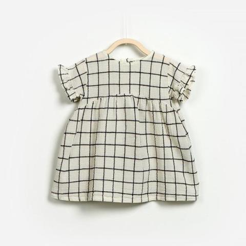 Play Up Woven Dress - Cream - Bloom Kids Collection - Play Up