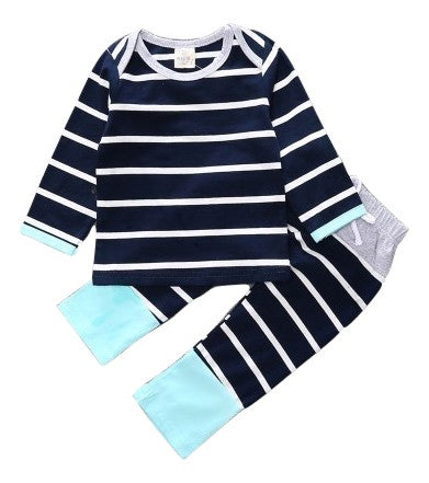 Navy and White Stripe Set - Bloom Kids Collection - Bloom Kids Collection