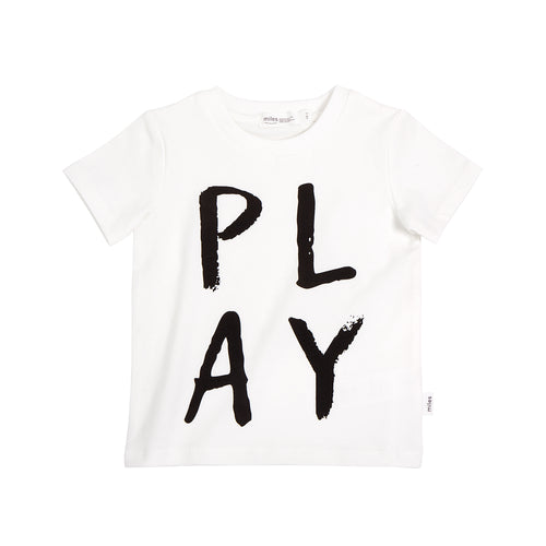 Miles Baby Basic Play T-Shirt - Off White