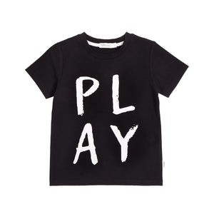 Miles Baby Basic Play T-Shirt - Black