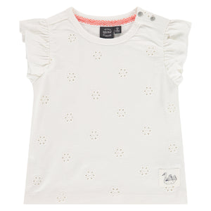 Babyface Girls Eyelet Top - Creme