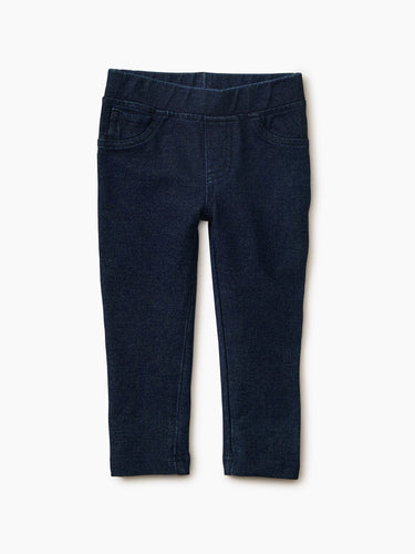 Tea Collection Stretch Denim-Like Pant - Dark Wash
