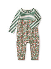 Tea Collection Two-Tone Romper - Cyprus Floral Sagebrush - Bloom Kids Collection - Tea Collection