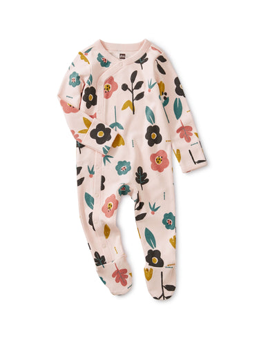 Tea Collection Footed Romper - Blooms - Bloom Kids Collection - Tea Collection
