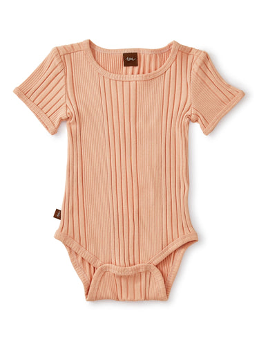 Tea Collection Ribbed Bodysuit - Dusty Coral - Bloom Kids Collection - Tea Collection