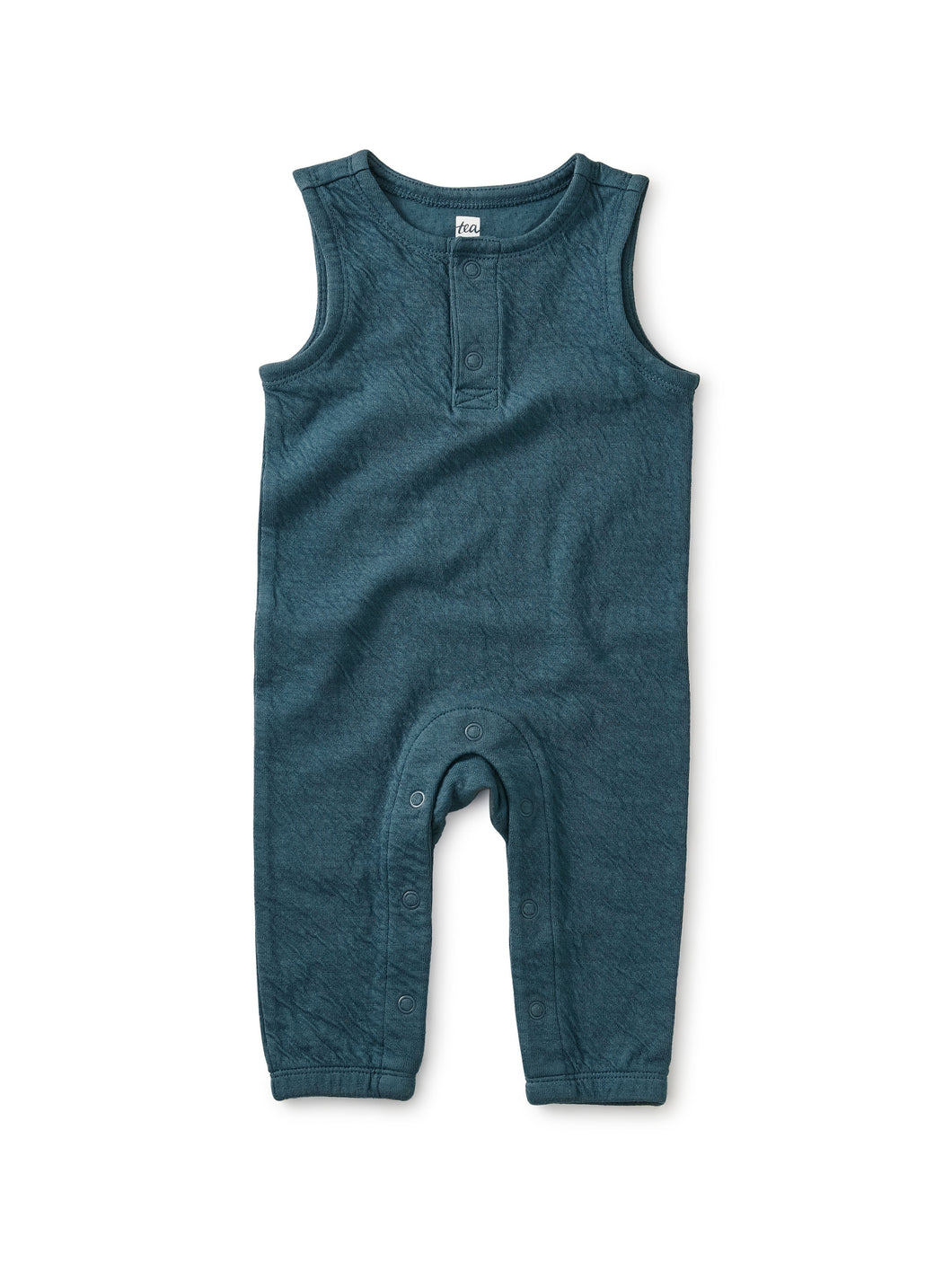 Tea Collection A Crinkle In Time Teal Romper - Indian Teal - Bloom Kids Collection - Tea Collection