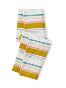 Tea Collection Multi Stripe Capri Leggings - Chalk - Bloom Kids Collection - Tea Collection