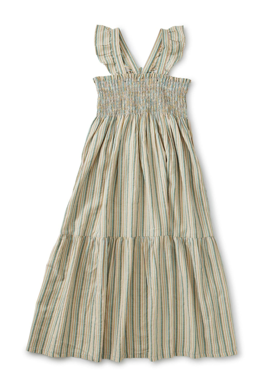 Tea Collection Ruffle Strap Midi Dress - Marsh - Bloom Kids Collection - Tea Collection